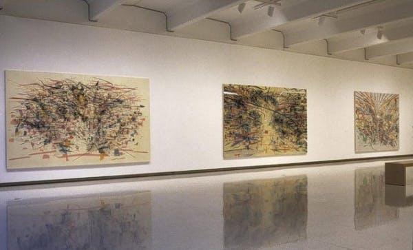 Installation view of Julie Mehretu: Drawing into Painting, Walker Art Center, Minneapolis, 2003