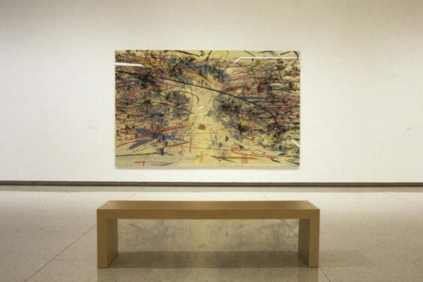 Installation view of Julie Mehretu: Drawing into Painting, Walker Art Center, Minneapolis, 2003