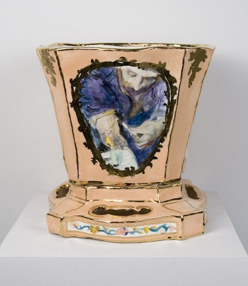 Jane Irish, Vase, Peach, 1995
