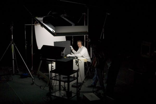 Christian Marclay, Production still from Shake Rattle and Roll (Fluxmix), Walker Art Center, Minneapolis., 2004