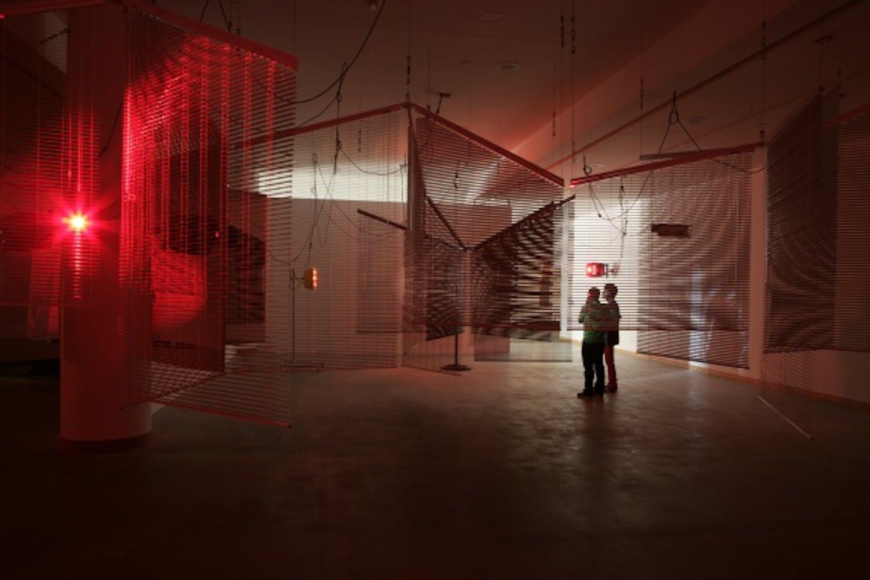 Haegue Yang, Yearning Melancholy Red, 2008