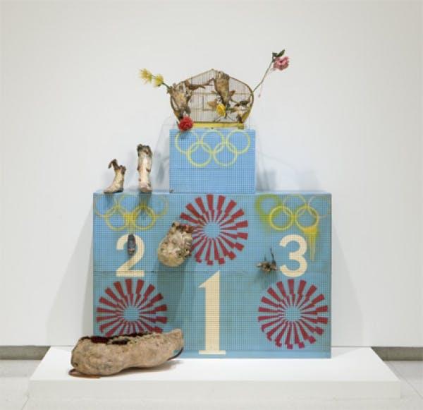 Tetsumi Kudo, Olympic Winners Platform (Pollution Olympics—Pollution Game—L'art presentiment), 1970-1972