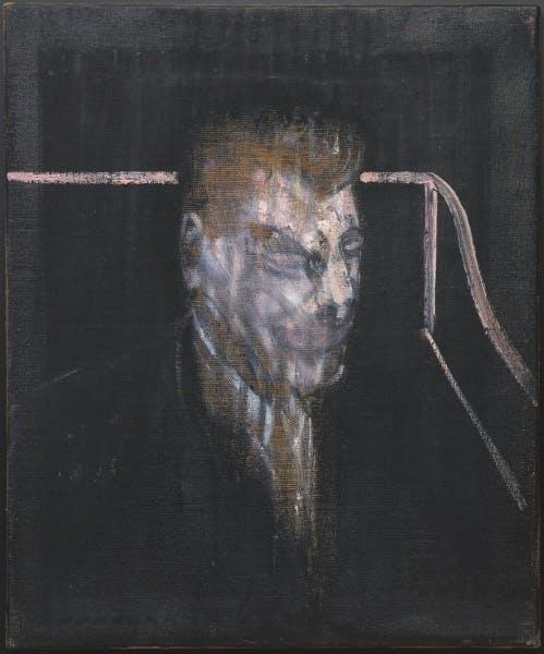 Francis Bacon, Head in Grey, 1955