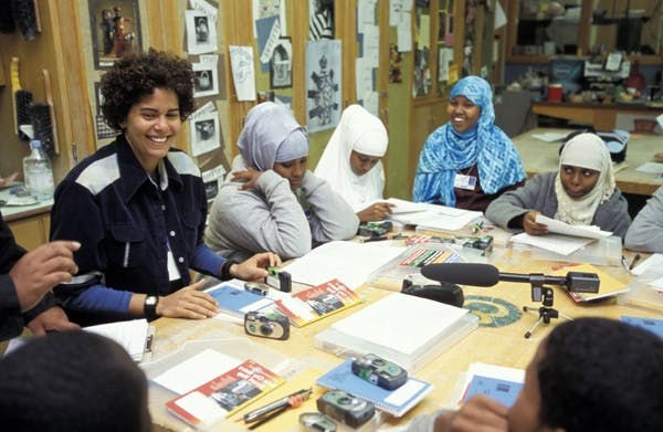 Photo: Artist Julie Mehretu at Edison High School