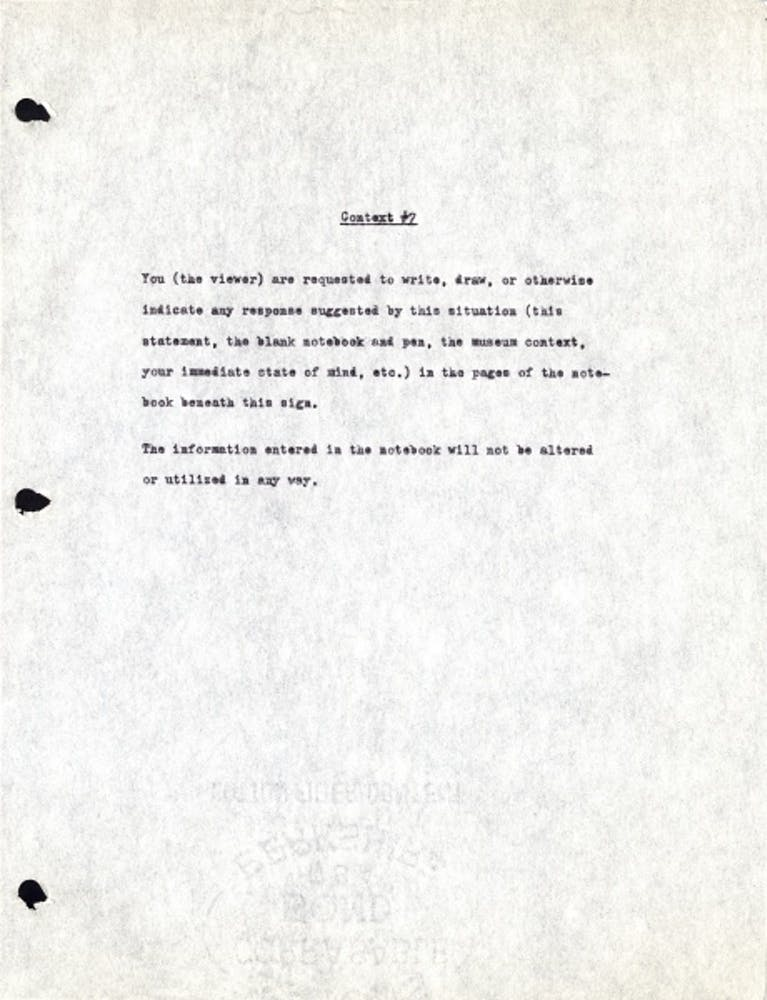 Adrian Piper, Context #7, 1970