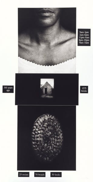 Lorna Simpson, Counting, 1991