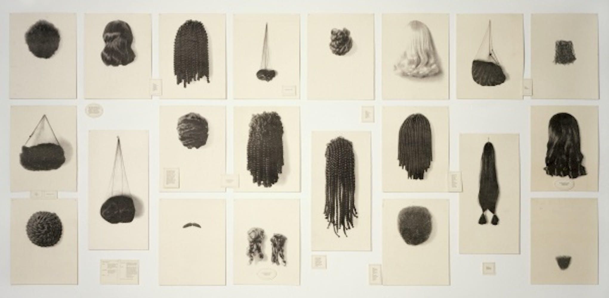 Lorna Simpson, Wigs (portfolio), 1994