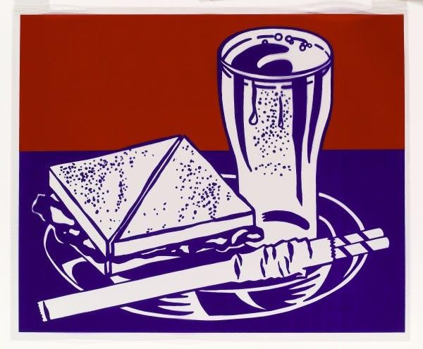 Roy Lichtenstein, Sandwich and Soda from the portfolio Ten Works by Ten Painters, 1964