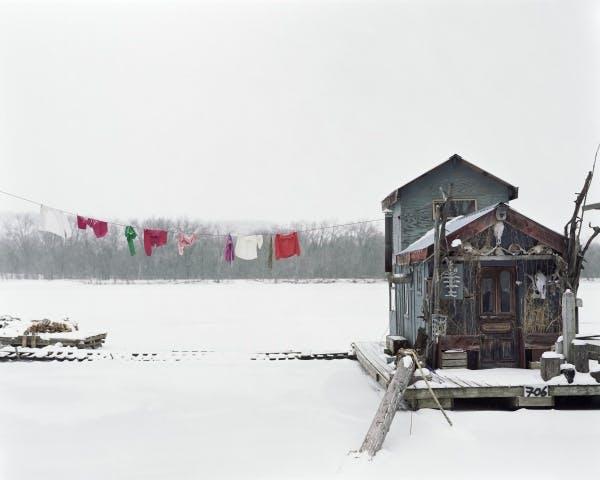 Alec Soth, Peter's Houseboat, Winona, Minnesota, 2002