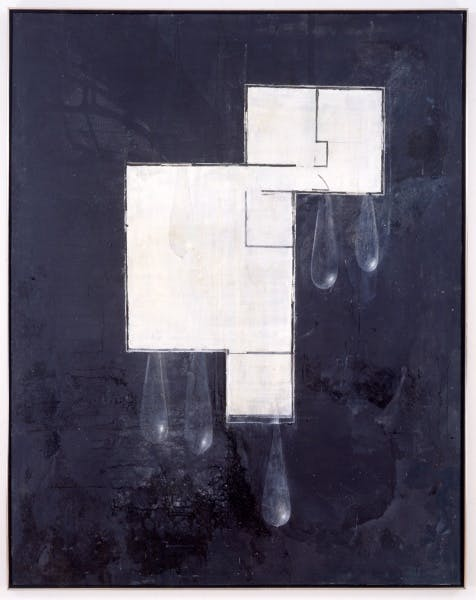 Guillermo Kuitca House Plan with Tear Drops, 1989