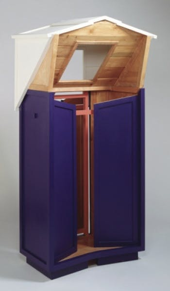 Siah Armajani, Closet Under Dormer, 1984-1985