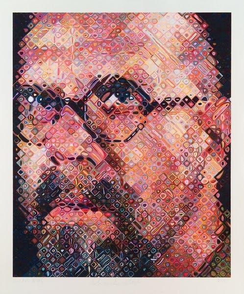 Chuck Close, Self-Portrait, 2000