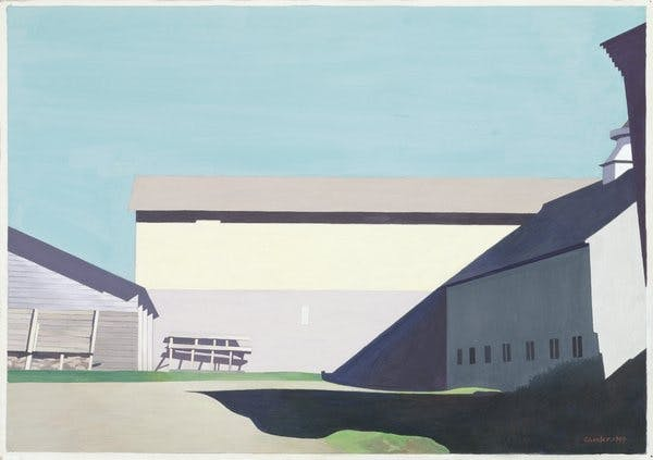 Charles Sheeler, Buildings at Lebanon, 1949