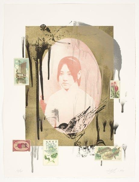 Hung Liu, Wild Flowers (Lotus), 1999