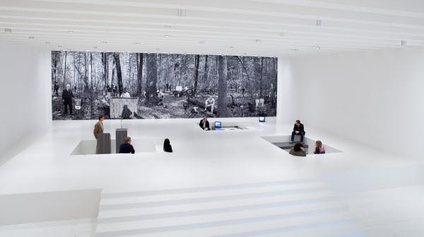 Installation view of Goshka Macuga: It Broke from Within, 2011