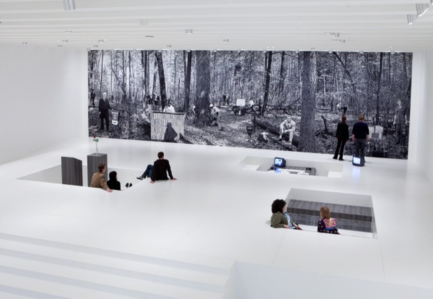 Installation view of the exhibition Goshka Macuga: It Broke from Within, 2011