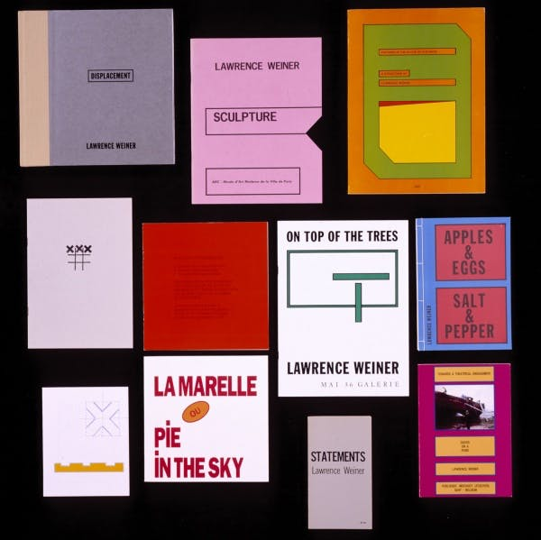 Artist's Books by Lawrence Weiner