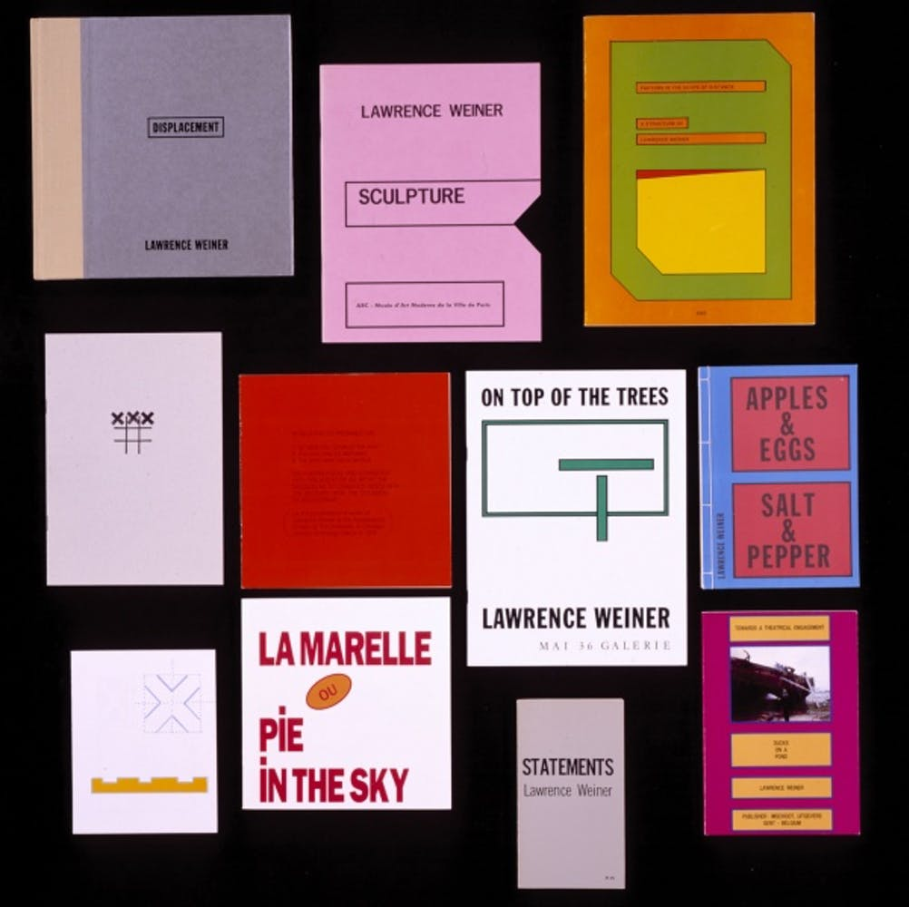 Artist's Books by LawrenceWeiner