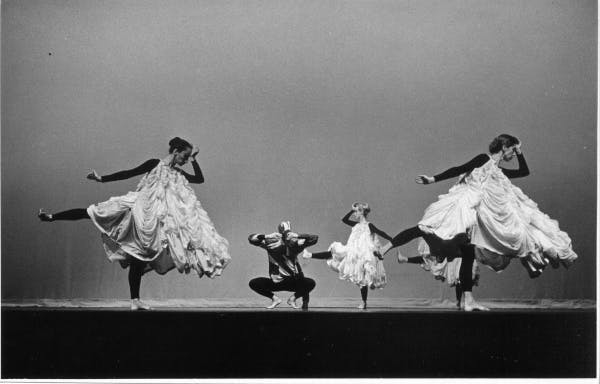 Merce Cunningham Dance Company performing Antic Meet (1958), with costumes and décor by Robert Rauschenberg