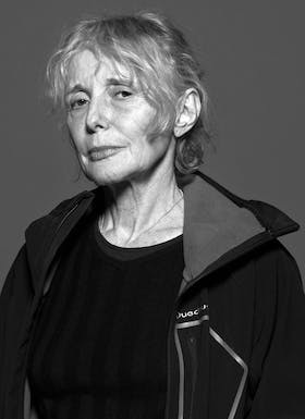 Black and white portrait of Claire Denis