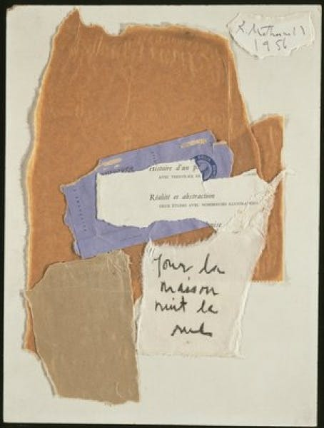 Robert Motherwell, Histoire d'un Peintre (Diary of a Painter), 1956
