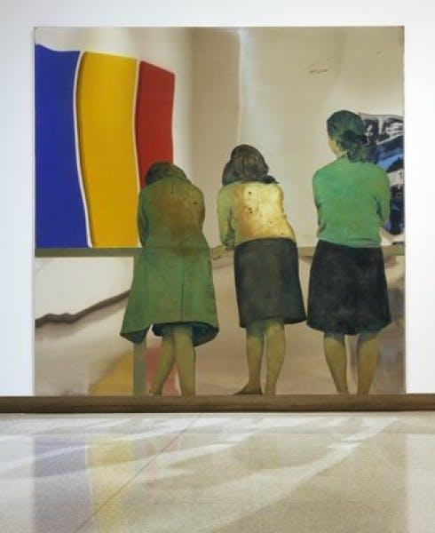 Michelangelo Pistoletto, Three Girls on a Balcony, 1962-1964