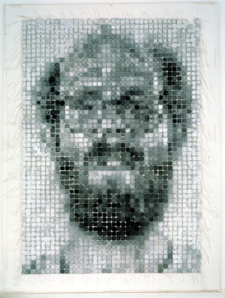 Chuck Close, Self-Portrait/String, 1983