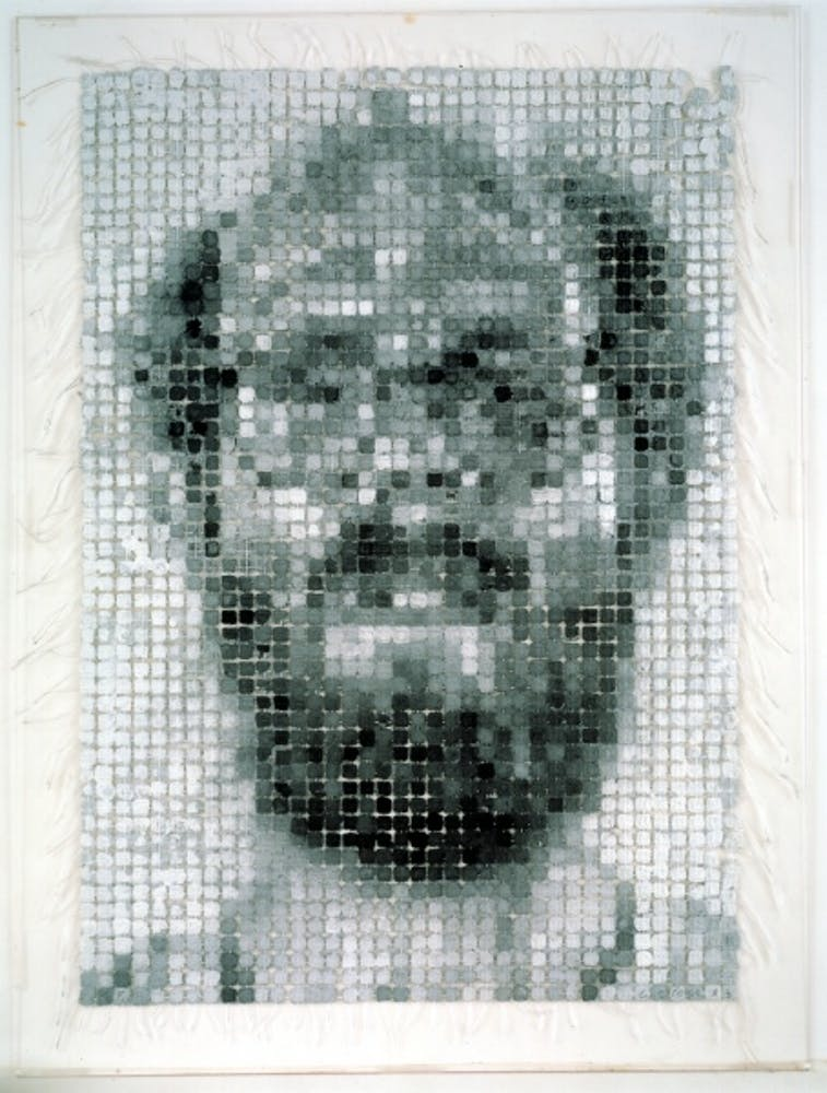 Chuck Close, Self-Portrait/String, 1983