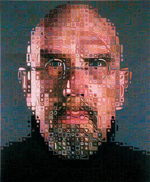 Chuck Close, Self-Portrait, 2004-2005