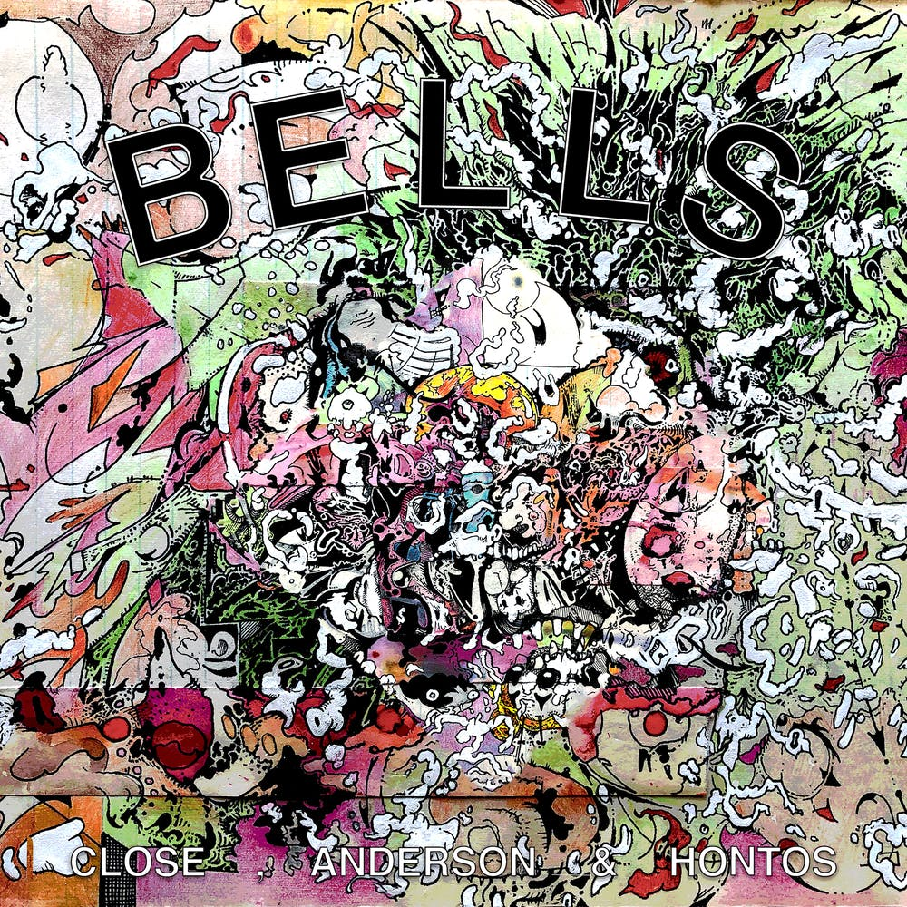 Album cover featuring chaotic and dense textural illustrations and colors