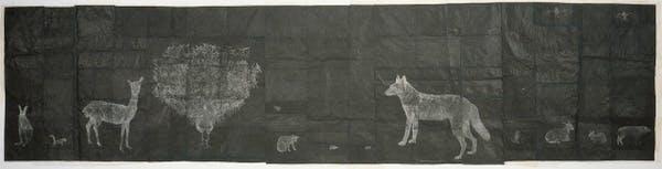 Kiki Smith, Black Animal Drawing, 1996-1998