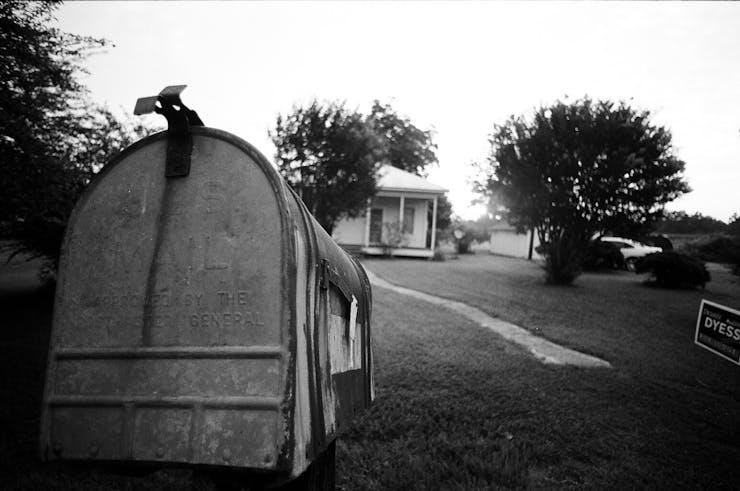 mailbox in yard