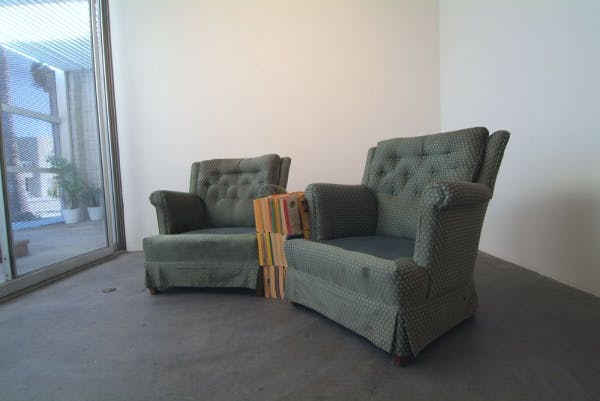 Rodney McMillian, Chairs and Books, 2004