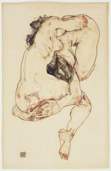 Egon Schiele, Two Figures, 1917