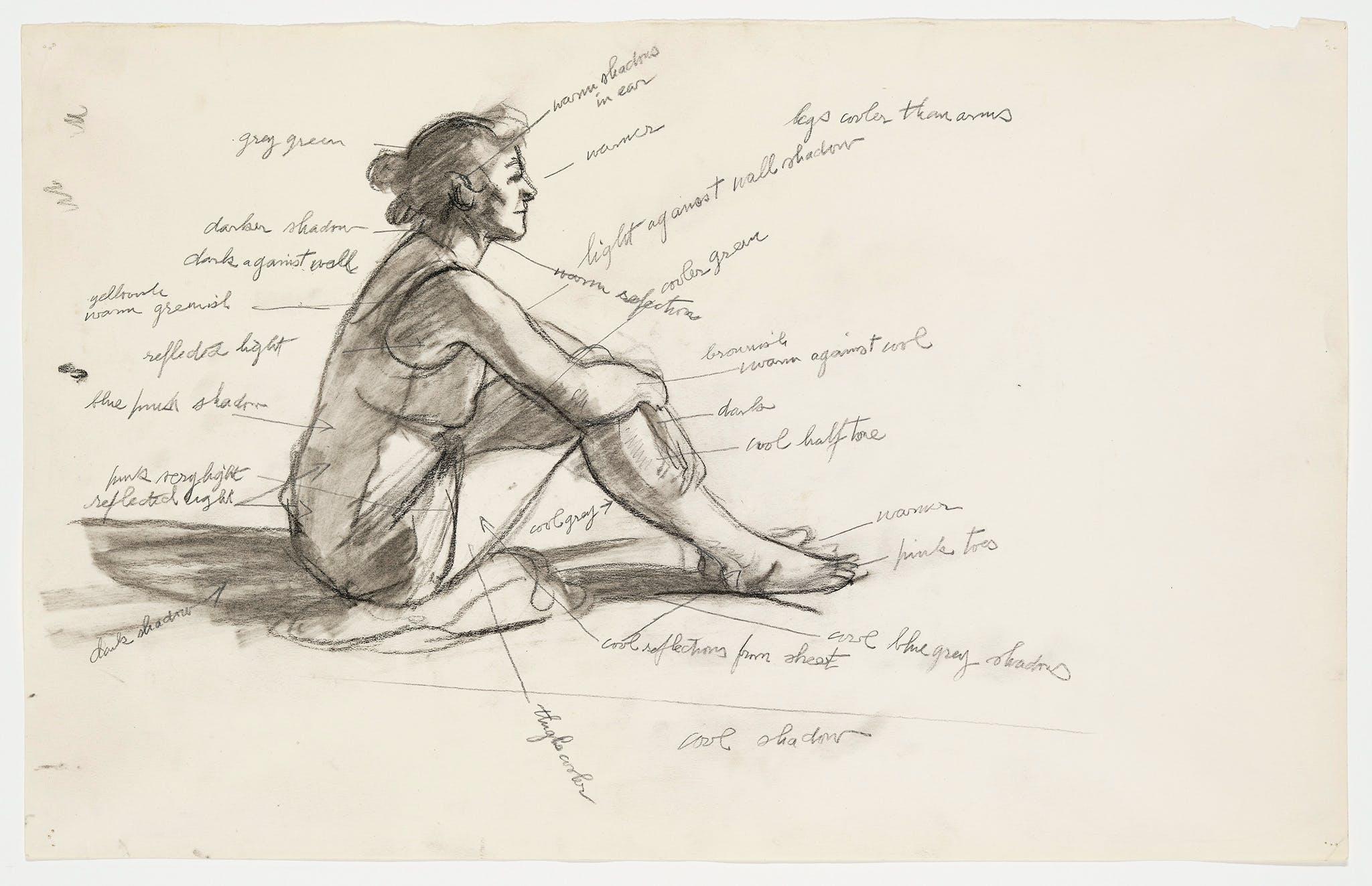 Edward Hopper, Study for Morning Sun, 1952