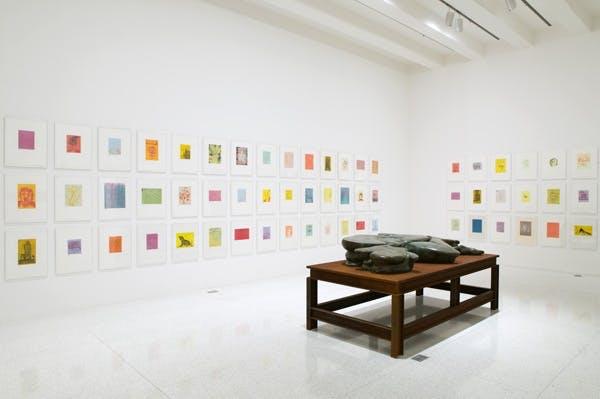 Installation view of the exhibition Quartet: Barney, Gober, Levine,Schütte