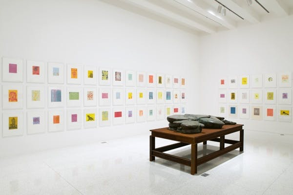 Installation view of the exhibition Quartet: Barney, Gober, Levine, Schütte