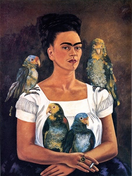 Frida Kahlo, Me and My Parrots (Yo y mis pericos), 1941