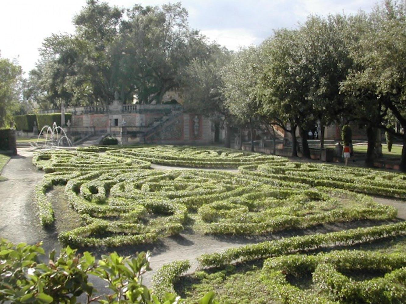Gardens at Vizcaya Museum and Gardens, Miami,Florida