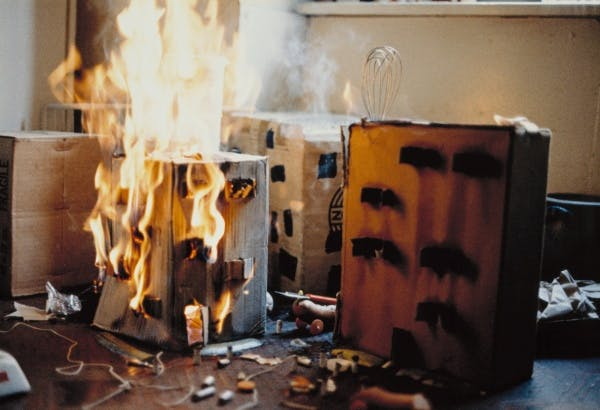 Peter Fischli and David Weiss, The Fire of Uster from Wurst Series, 1979