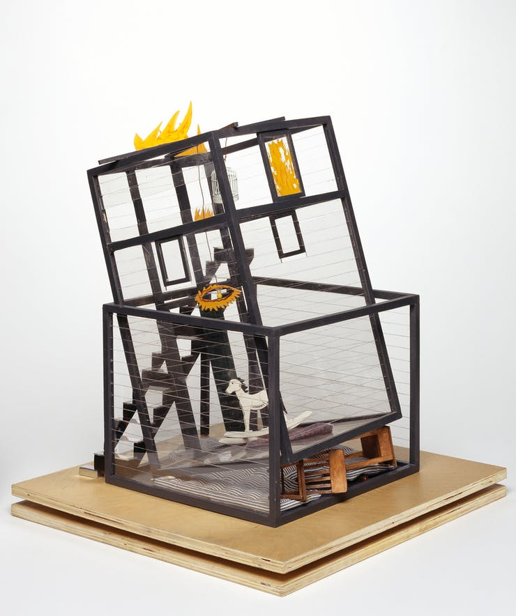 Siah Armajani, working model for Fallujah, 2004, wood, metal, fabric, paint, acrylic. Collection Walker Art Center, Minneapolis; Gift of the artist, 2006