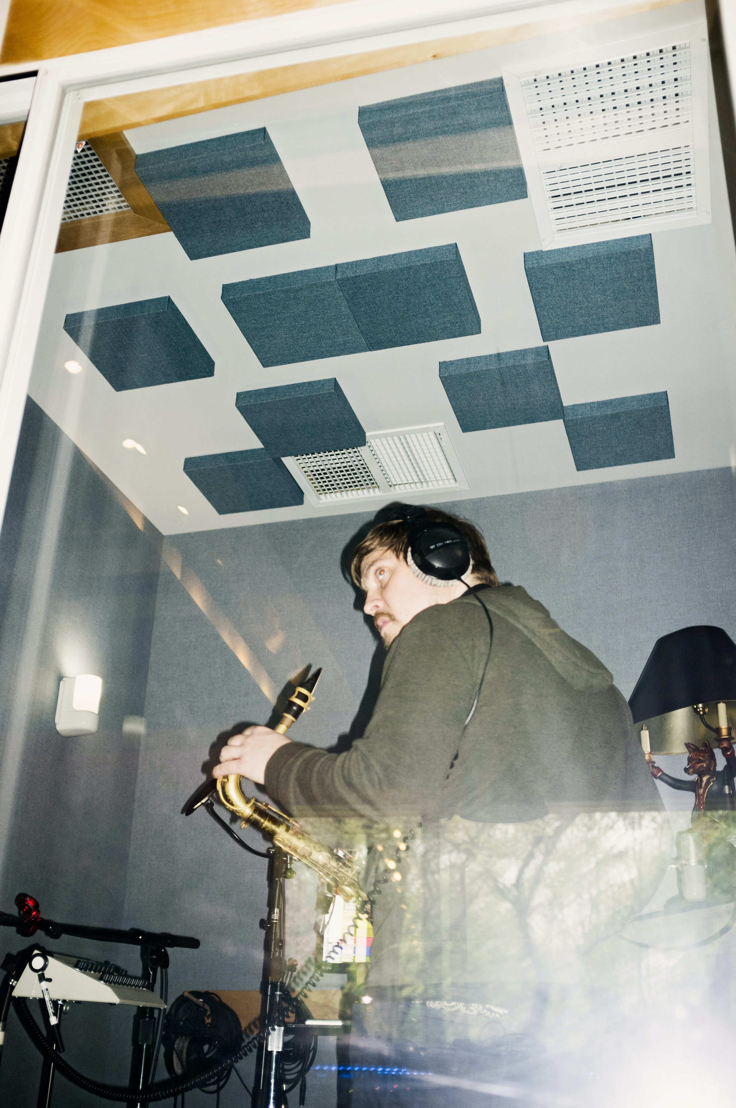 man in recording studio