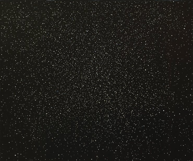 Vija Celmins, Night Sky #6, 1993