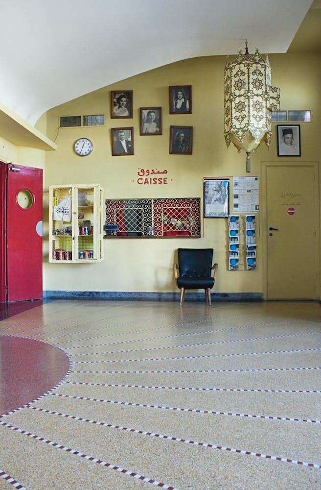 Interior lobby of Cinémathèque de Tanger