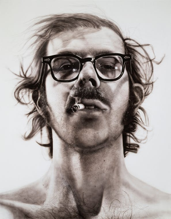 Chuck Close, Big Self-Portrait, 1967-1968
