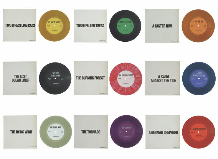 Jack Goldstein, A Suite of Nine 7-Inch Records, 1976