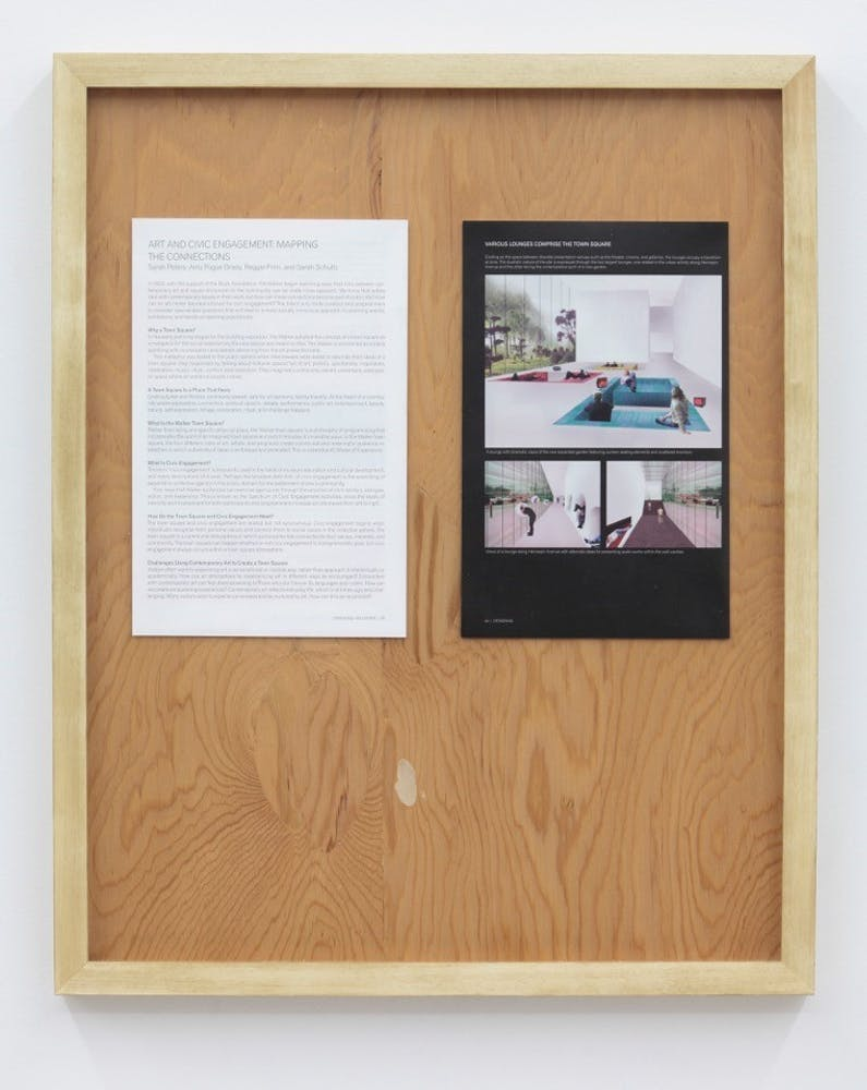 Goshka Macuga, Untitled/Town Square Manifesto, 2011