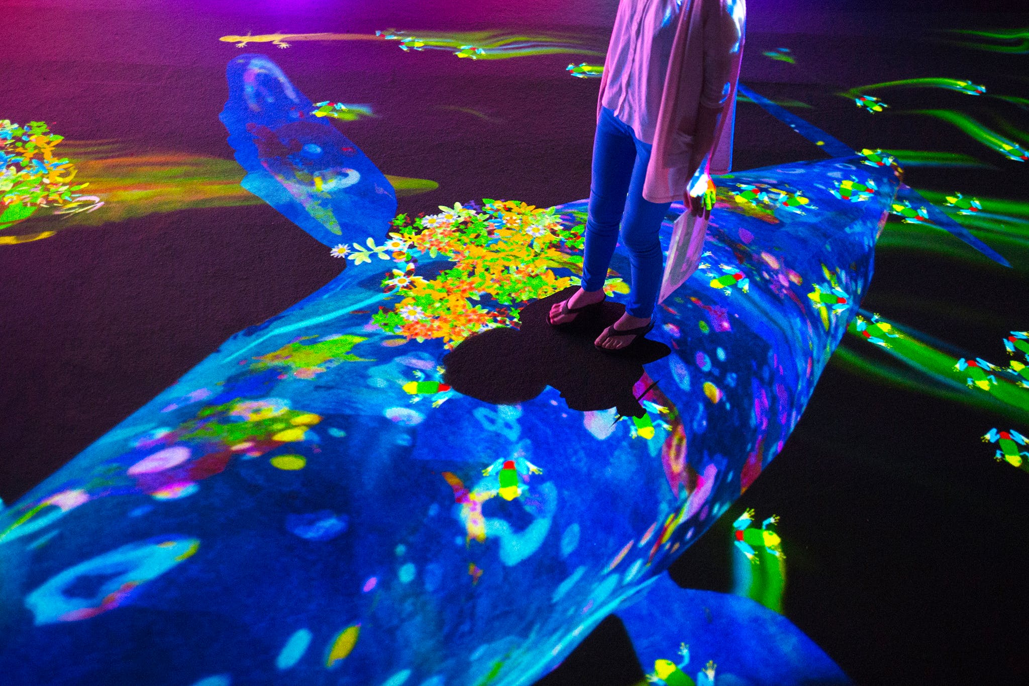 teamLab, View of Graffiti Nature, 2016, (Photo: ©teamLab, courtesy Pace Gallery)
