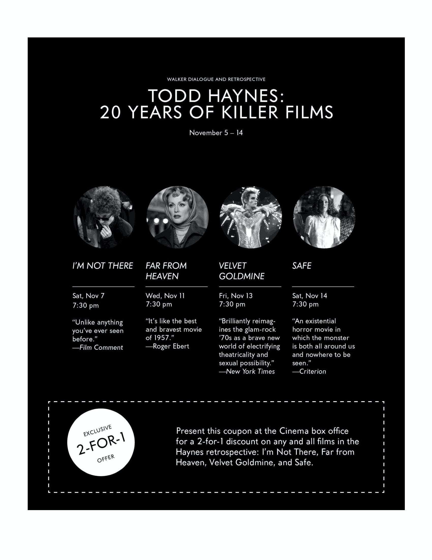 Todd Haynes Dialogues event program notes pg 2