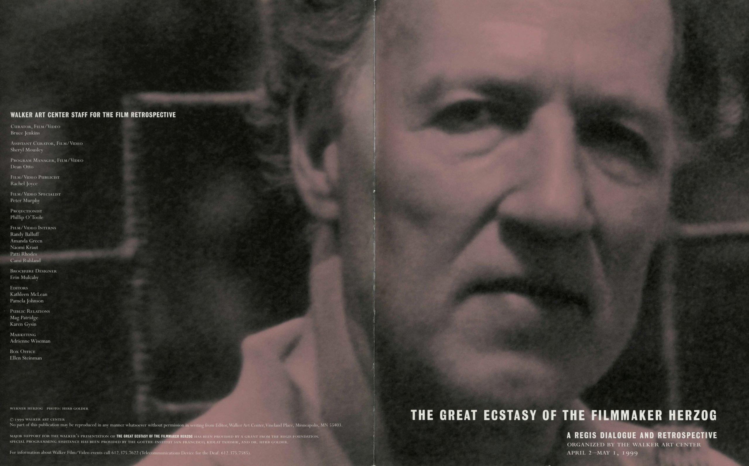 Werner Herzog Dialogue event brochure page 1